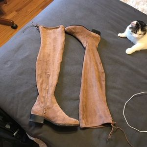 Forever 21 Flat Thigh High Boots